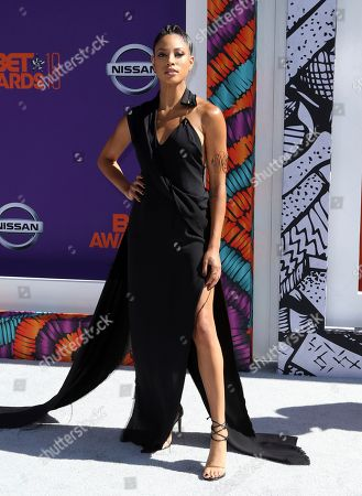 Stock Image of Lex Scott Davis arrives at the BET Awards at the Microsoft Theater, in Los Angeles