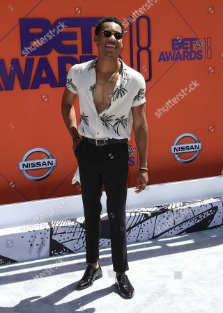 Tyler James Williams arrives at the BET Awards at the Microsoft Theater, in Los Angeles