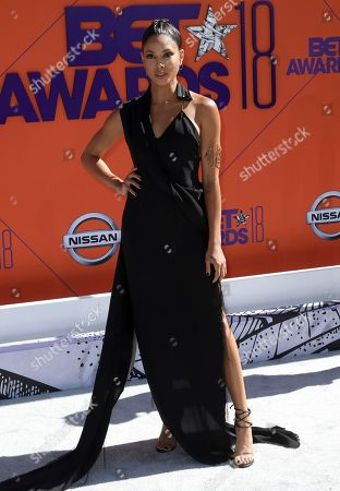 Stock Photo of Lex Scott Davis arrives at the BET Awards at the Microsoft Theater, in Los Angeles