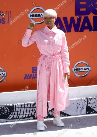 DeJ Loaf arrives at the BET Awards at the Microsoft Theater, in Los Angeles