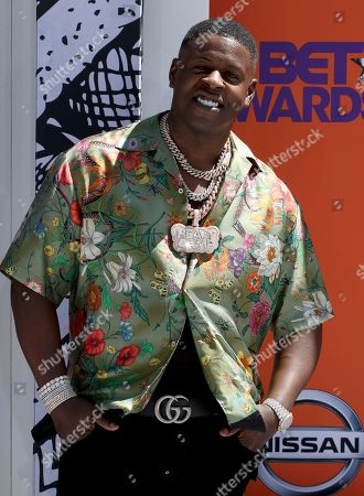 Blac Youngsta arrives at the BET Awards at the Microsoft Theater, in Los Angeles
