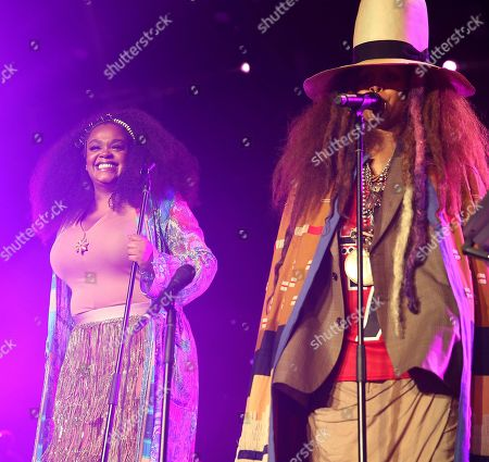Jill Scott and Erykah Badu perform at the 2018 Essence Festival at the Mercedes-Benz Superdome, in New Orleans