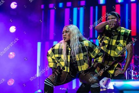 LaTocha Scott of Xscape performs at the 2018 Essence Festival at the Mercedes-Benz Superdome, in New Orleans