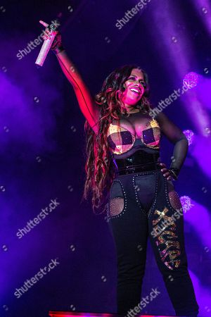 Kandi Burruss of Xscape performs at the 2018 Essence Festival at the Mercedes-Benz Superdome, in New Orleans