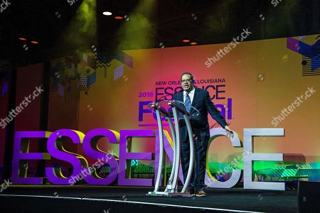 Michael Eric Dyson seen at the 2018 Essence Festival at the Ernest N. Morial Convention Center, in New Orleans