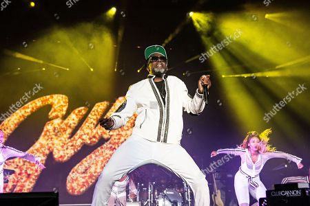 Stock Image of Damion Hall of Guy performs at the 2018 Essence Festival at the Mercedes-Benz Superdome, in New Orleans