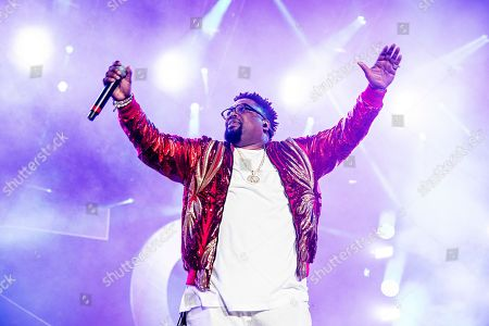 Stock Photo of Dave Hollister performs at the 2018 Essence Festival at the Mercedes-Benz Superdome, in New Orleans