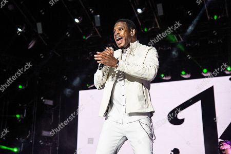 Keith Sweat performs at the 2018 Essence Festival at the Mercedes-Benz Superdome, in New Orleans