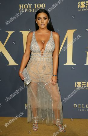 Abigail Ratchford arrives at the 2018 Maxim Hot 100 Experience at the Hollywood Palladium, in Los Angeles