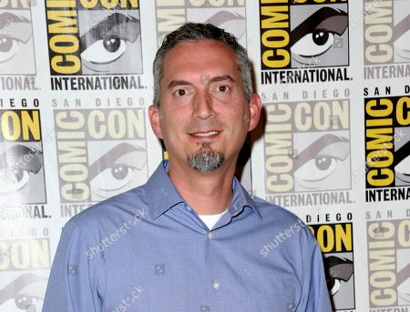 """James Dashner, author of """"Maze Runner"""" attends the 20th Century Fox press line at Comic-Con International in San Diego. Dashner tweeted late that he was working on new material and wasn't using notes as a guide for his new project, which would be the first since he was dropped by publisher Three Penguin Random House imprints over sexual misconduct allegations in February"""