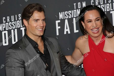 "Actor Henry Cavill, left, and Dany Garcia attend the U.S. premiere of ""Mission: Impossible - Fallout"" at The Smithsonian National Air and Space Museum on in Washington"