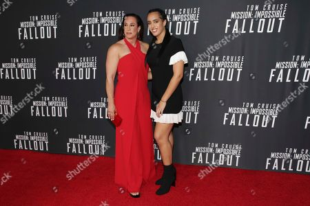 "Dany Garcia, left, and Simone Johnson attend the U.S. premiere of ""Mission: Impossible - Fallout"" at The Smithsonian National Air and Space Museum on in Washington"