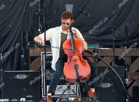 Zach Filkins with OneRepublic performs at SunTrust Park, in Atlanta