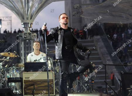 U2 - Larry Mullen Jnr and Bono