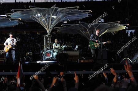 U2 - The Edge, Larry Mullen Jnr and Bono