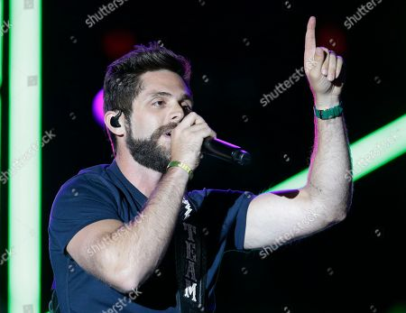 Thomas Rhett performs during the Trip Around the Sun Tour at Chase Field, in Phoenix, Arizona