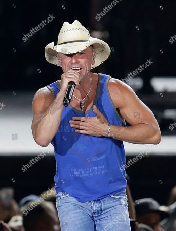 Kenny Chesney performs during the Trip Around the Sun Tour at Chase Field, in Phoenix, Arizona