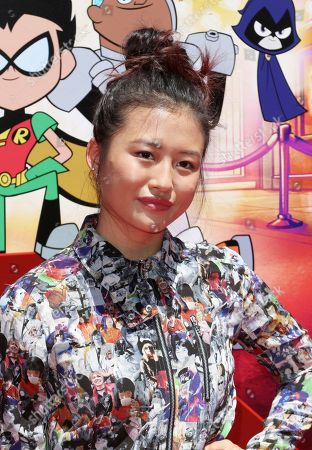 """Stock Picture of Haley Tju arrives at the LA Premiere of """"Teen Titans Go! To the Movies"""" at the TCL Chinese Theatre, in Los Angeles"""