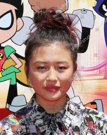 """Stock Photo of Haley Tju arrives at the LA Premiere of """"Teen Titans Go! To the Movies"""" at the TCL Chinese Theatre, in Los Angeles"""