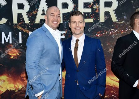 "Producer Hiram Garcia, left, director Rawson Marshall Thurber attend the ""Skyscraper"" premiere at AMC Loews Lincoln Square, in New York"