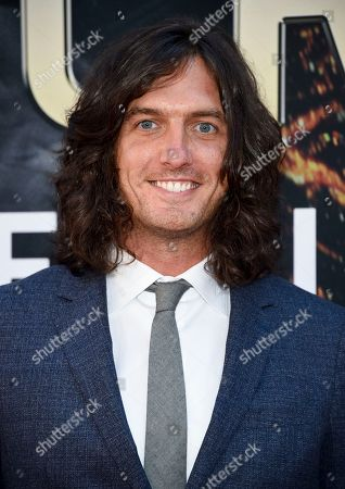 """Stock Photo of Andrew Jenks attends the """"Skyscraper"""" premiere at AMC Loews Lincoln Square, in New York"""