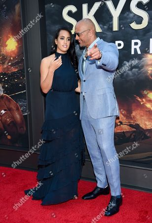 "Actor Dwayne Johnson and daughter Simone Johnson attend the ""Skyscraper"" premiere at AMC Loews Lincoln Square, in New York"