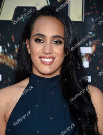 "Simone Johnson attends the ""Skyscraper"" premiere at AMC Loews Lincoln Square, in New York"