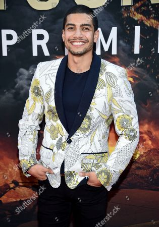 "Rick Gonzalez attends the ""Skyscraper"" premiere at AMC Loews Lincoln Square, in New York"