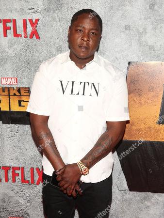 "Jadakiss attends the premiere of the Netflix original series Marvel's ""Luke Cage"" season two at The Edison Ballroom, in New York"