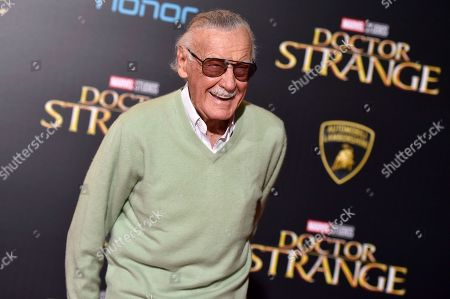 """Stan Lee arrives at the premiere of """"Doctor Strange"""" in Los Angeles. A judge has found that an attorney who had obtained an elder-abuse restraining order on behalf of Lee does not in fact represent him. Los Angeles Superior Court Judge Pro Tem Ruth Kleman said that she did not recognize Tom Lallas as Lee's lawyer, and dissolved the temporary restraining order against Lee's former personal adviser Keya Morgan"""