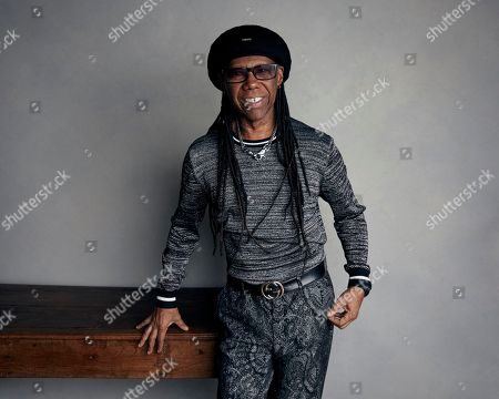 "Stock Photo of Nile Rodgers poses for a portrait to promote the film ""Studio 54"" at the Music Lodge during the Sundance Film Festival in Park City, Utah. Board members on unanimously elected Rodgers chairman of the Songwriters Hall of Fame. The 65-year-old guitarist will serve a three-year term, succeeding co-chairs Kenneth Gamble and Leon Huff"
