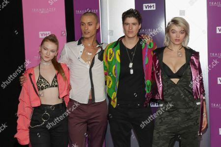 Cory Wade, 2nd from left, Rain Dove, 3rd from left, and guests attend VH1's Trailblazer Honors at the Cathedral of St. John the Divine, in New York