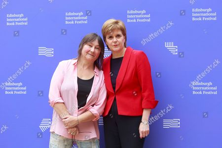 Stock Image of Ali Smith writer and Nicola Sturgeon first Minister of Scotland