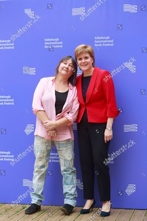 Stock Photo of Ali Smith writer and Nicola Sturgeon first Minister of Scotland