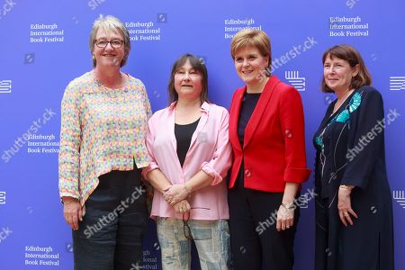 Stock Picture of Susan Stewart, Ali Smith, Mary Kellet writer Nicola Sturgeon first Minister of Scotland