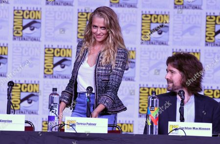 """Stock Photo of Teresa Palmer, left, and Lachlan MacKinnon attend the """"A Discovery of Witches"""" panel on day one of Comic-Con International, in San Diego"""