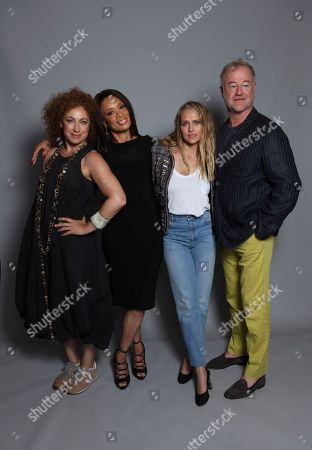 "Alex Kingston, from left, Valarie Pettiford, Teresa Palmer, and Owen Teale pose for a portrait to promote the television series ""A Discovery of Witches"" on day one of Comic-Con International, in San Diego"