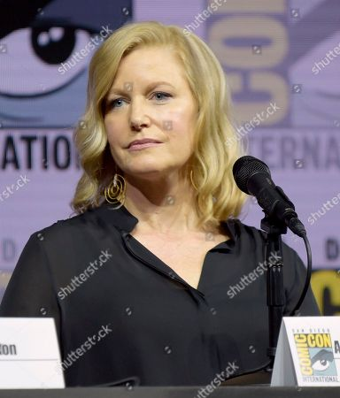 """Anna Gunn attends the """"Breaking Bad"""" 10th Anniversary panel on day one of Comic-Con International, in San Diego"""