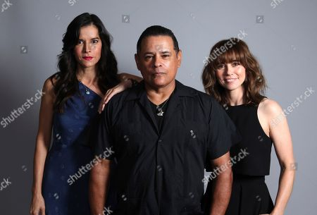"Patricia Velasquez, from left, Raymond Cruz, and Linda Cardellini pose for a portrait to promote the film ""The Curse of La Llorona"" on day one of Comic-Con International, in San Diego"