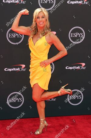 Denise Austin arrives at the ESPY Awards at Microsoft Theater, in Los Angeles