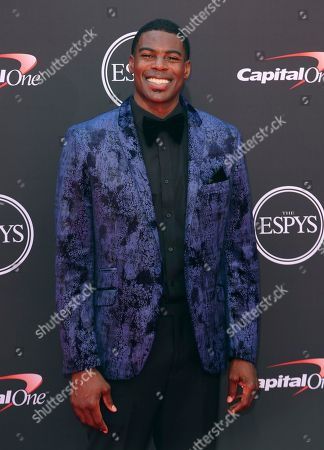Sheldon Bailey arrives at the ESPY Awards at the Microsoft Theater, in Los Angeles