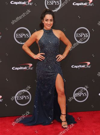 Jordyn Wieber arrives at the ESPY Awards at Microsoft Theater, in Los Angeles