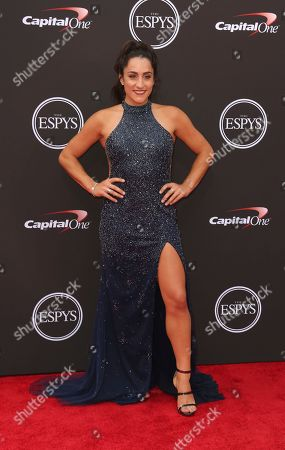 Jordyn Wieber arrives at the ESPY Awards at the Microsoft Theater, in Los Angeles