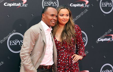 Stock Photo of Sugar Ray Leonard, left, and Camille Leonard arrive at the ESPY Awards at the Microsoft Theater, in Los Angeles