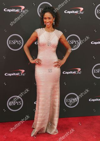Stock Photo of Sage Steele arrives at the ESPY Awards at the Microsoft Theater, in Los Angeles