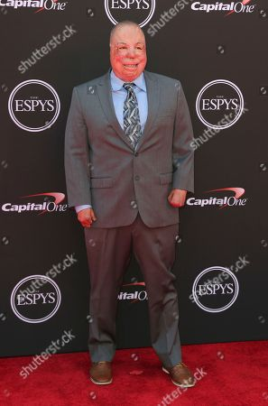 Israel Del Toro arrives at the ESPY Awards at Microsoft Theater, in Los Angeles