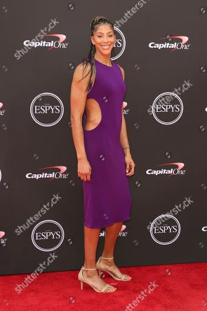 Candace Parker arrives at the ESPY Awards at the Microsoft Theater, in Los Angeles