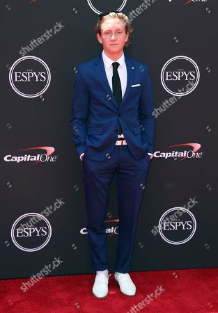 Redmond Gerard arrives at the ESPY Awards at the Microsoft Theater, in Los Angeles
