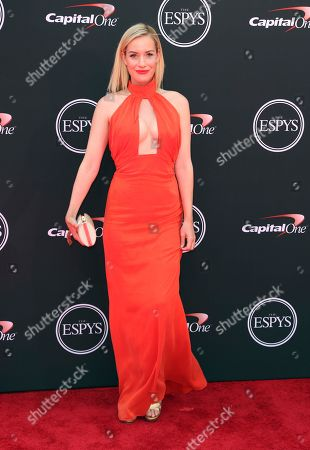 Paige Spiranac arrives at the ESPY Awards at the Microsoft Theater, in Los Angeles