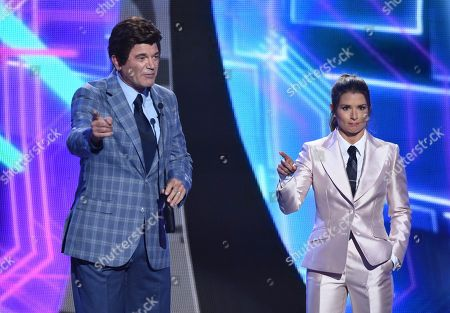 John Michael Higgins and Danica Patrick appear at the ESPY Awards at Microsoft Theater, in Los Angeles